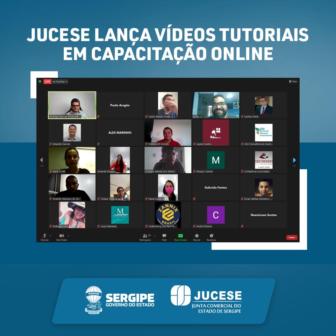 Jucese lança vídeos tutoriais em capacitação online